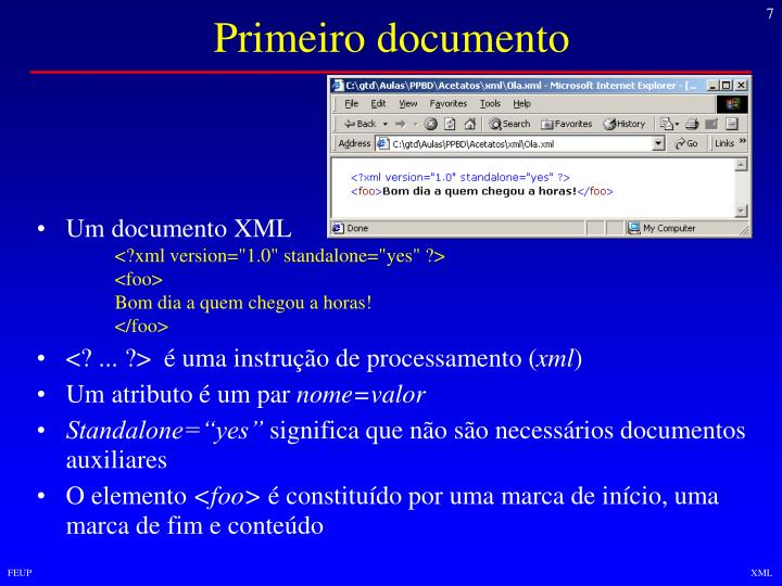 Primeiro documento