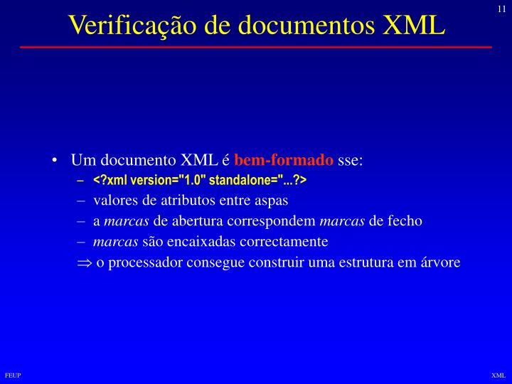 Verificação de documentos XML