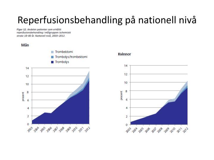 Reperfusionsbehandling på nationell nivå