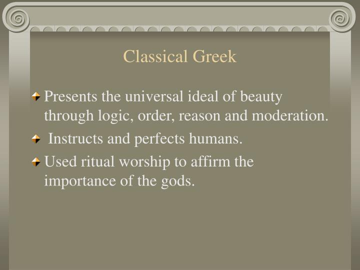 Classical greek