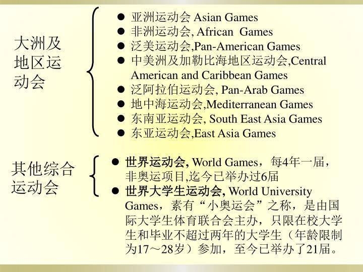 亚洲运动会