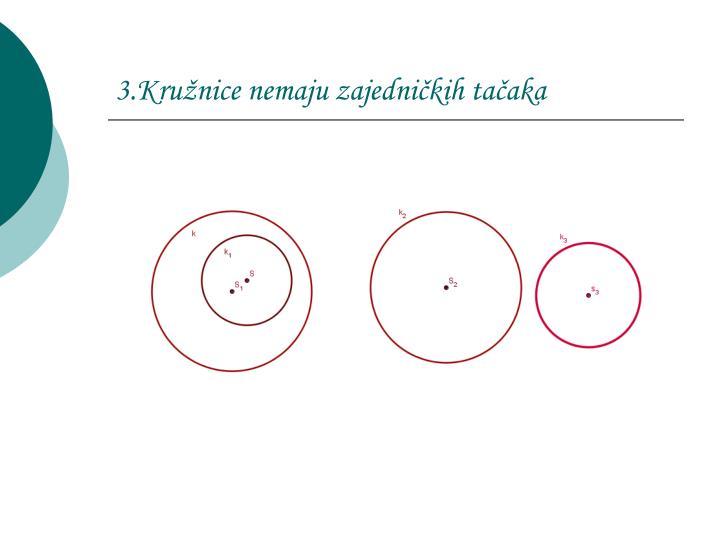3.Kružnice nemaju zajedničkih tačaka