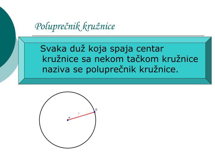 Poluprečnik kružnice