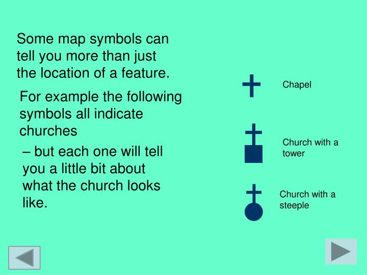 Some map symbols can tell you more than just the location of a feature.