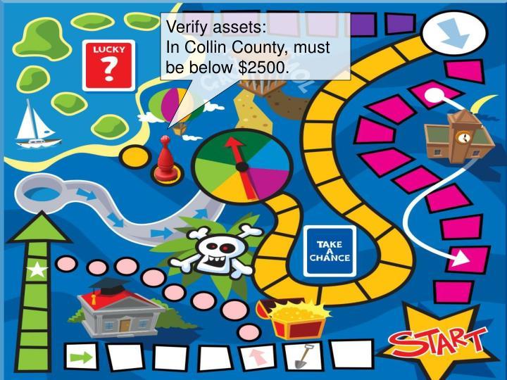 Verify assets: