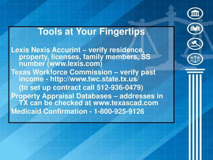 Tools at Your Fingertips