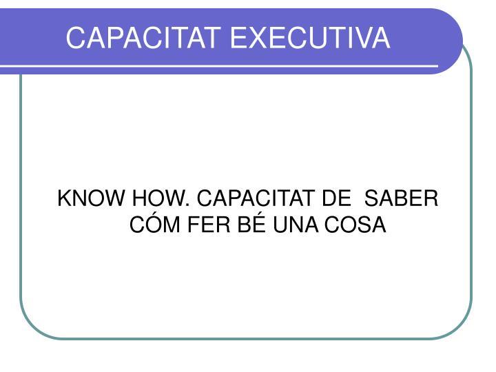 CAPACITAT EXECUTIVA