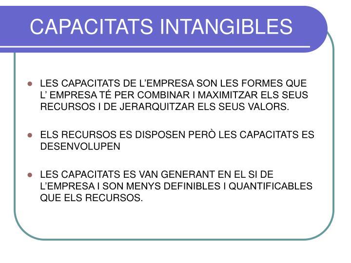 CAPACITATS INTANGIBLES