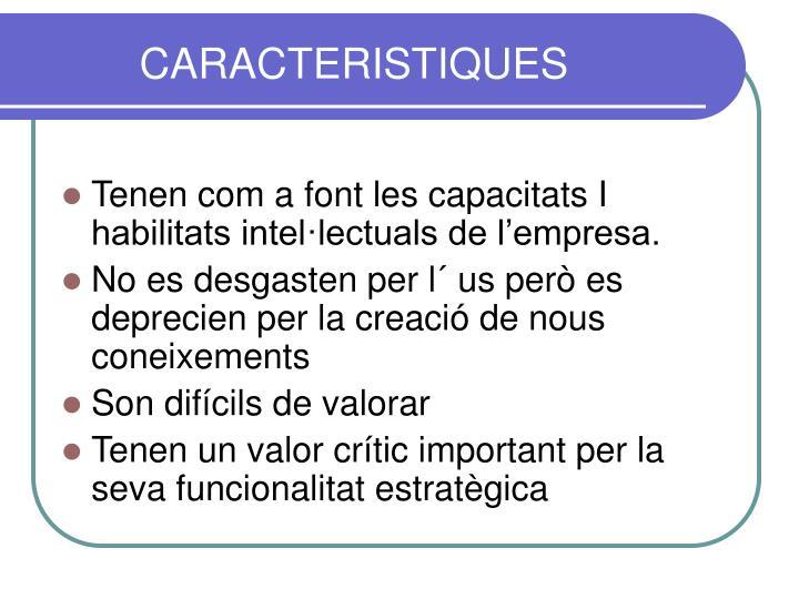 CARACTERISTIQUES