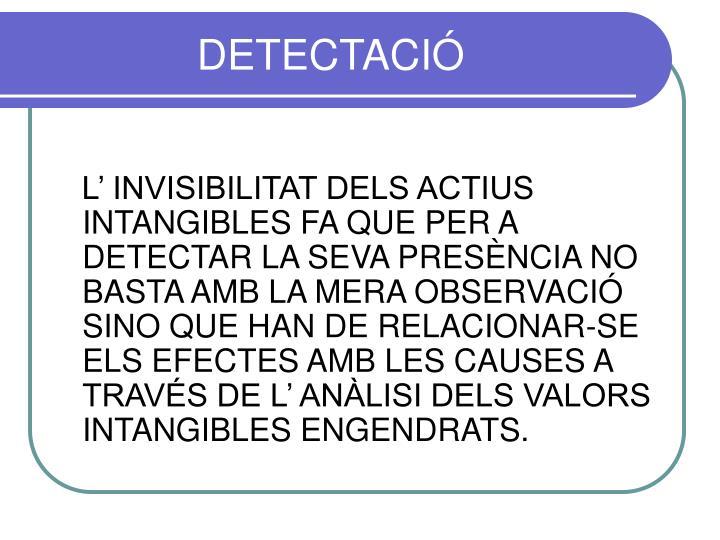 DETECTACIÓ