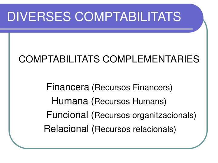 DIVERSES COMPTABILITATS