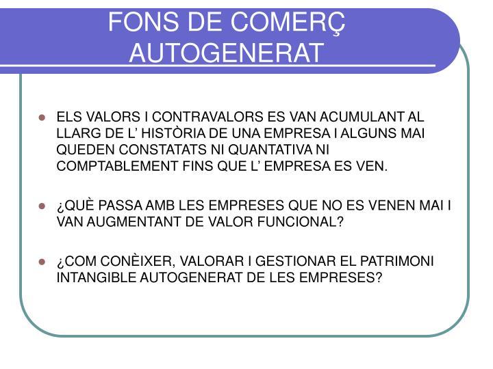 FONS DE COMERÇ AUTOGENERAT