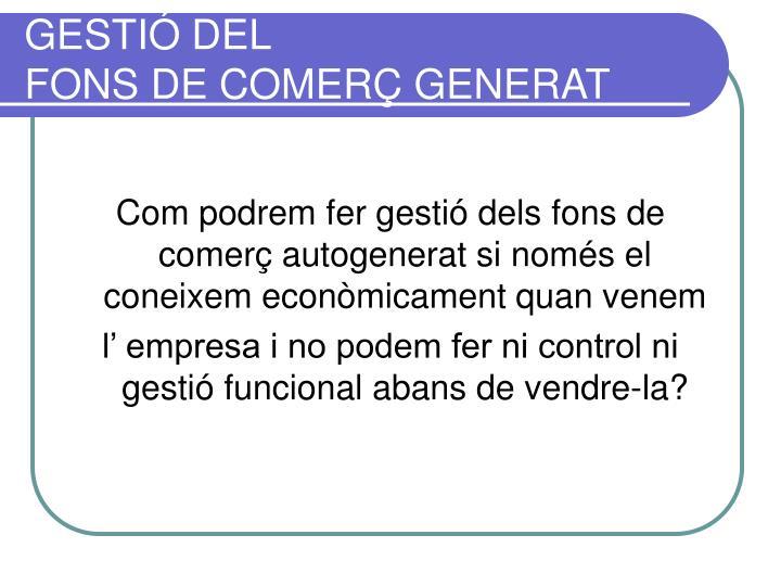GESTIÓ DEL