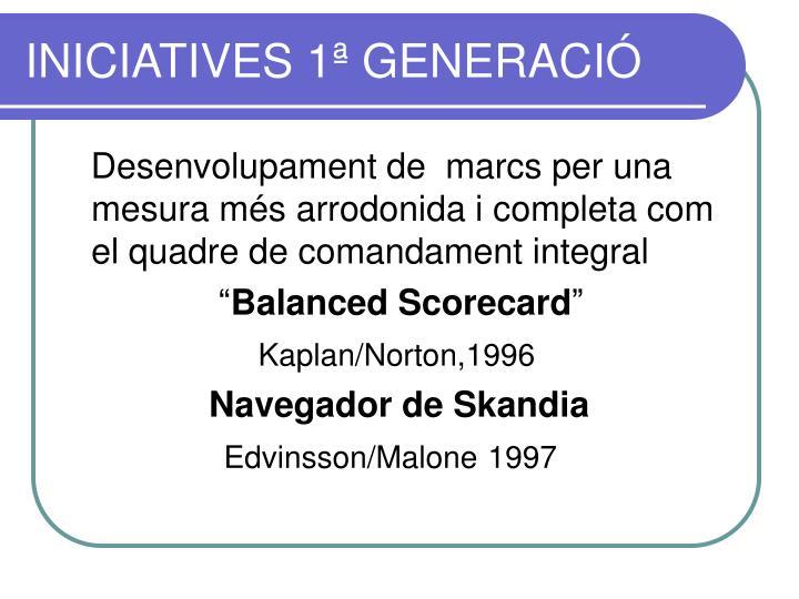 INICIATIVES 1ª GENERACIÓ