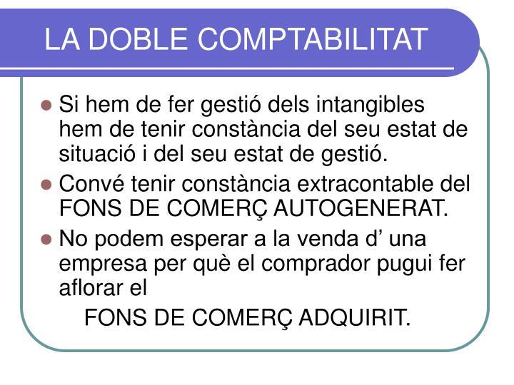 LA DOBLE COMPTABILITAT