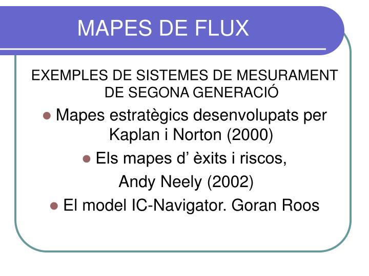 MAPES DE FLUX