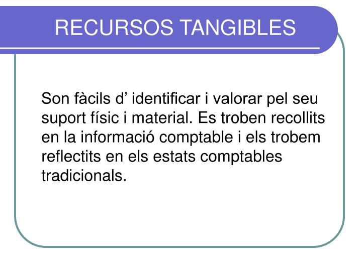 RECURSOS TANGIBLES