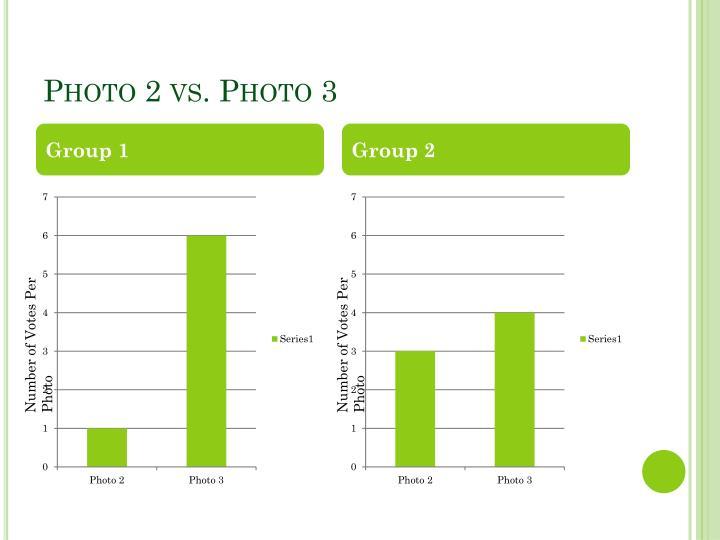 Photo 2 vs. Photo 3