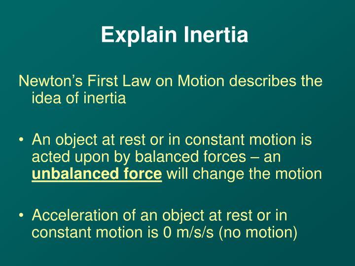 Explain Inertia
