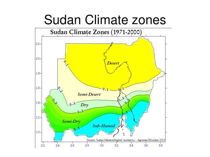 Sudan Climate zones