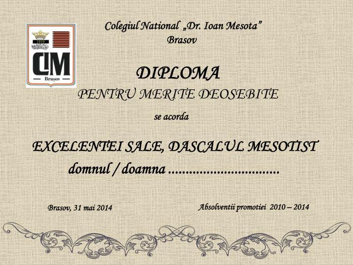 "Colegiul National  ""Dr. Ioan Mesota"" Brasov"