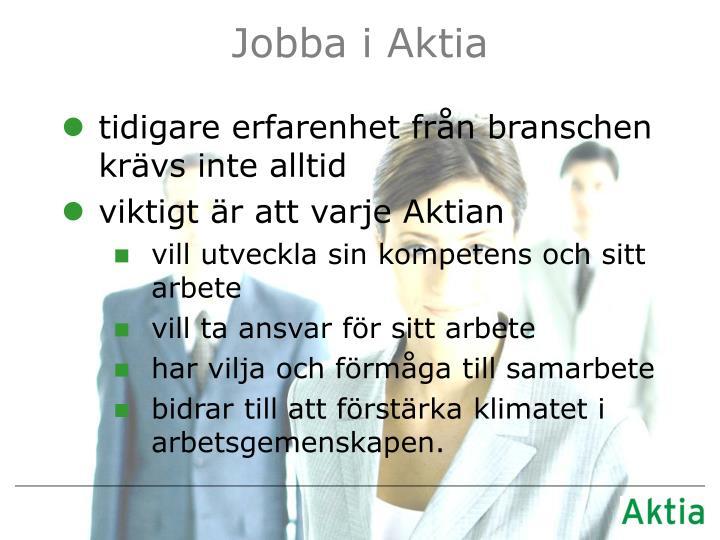 Jobba i Aktia