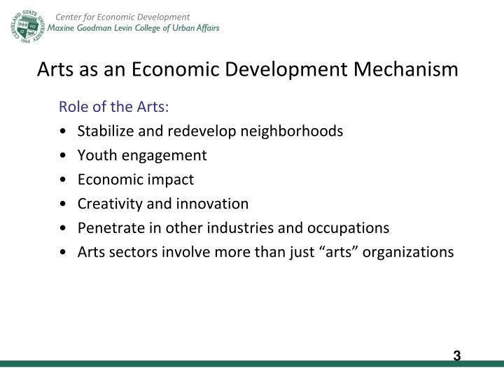 Arts as an Economic Development Mechanism