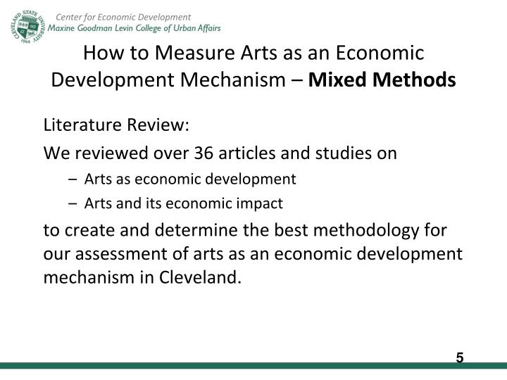 How to Measure Arts as an Economic Development Mechanism –