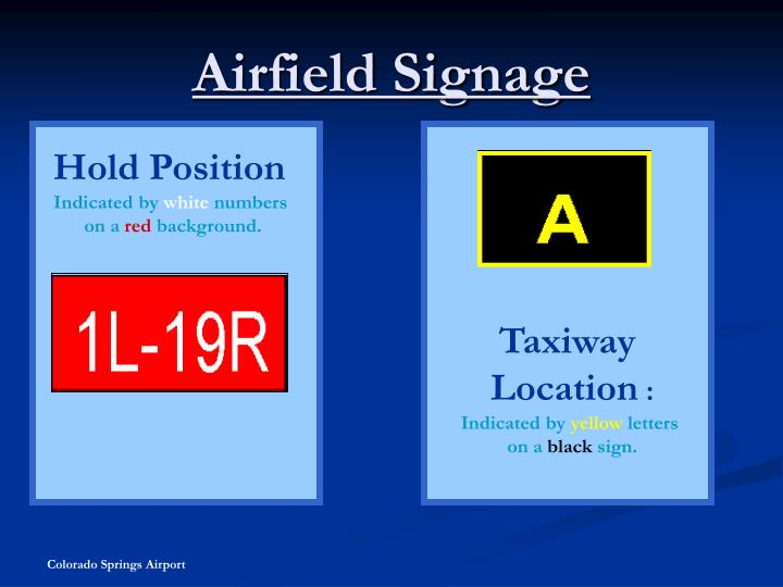 Airfield Signage
