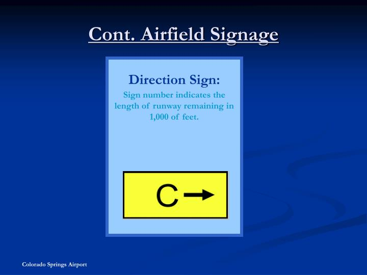 Cont. Airfield Signage