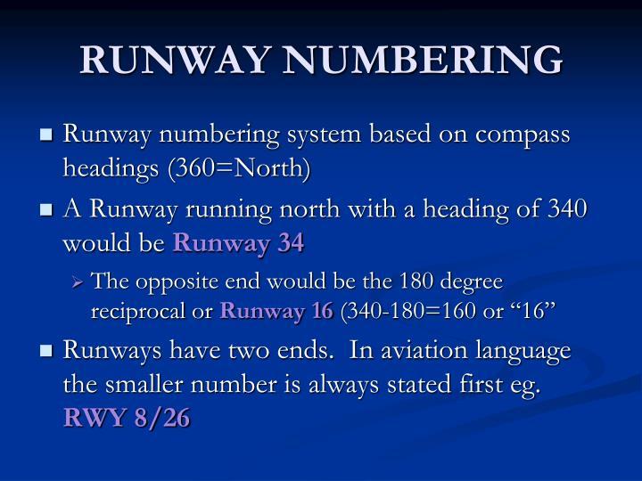 RUNWAY NUMBERING