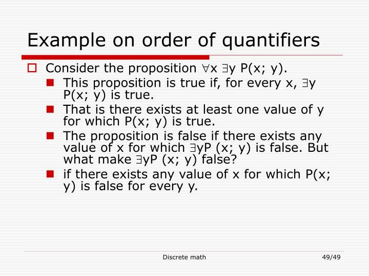 Example on order of quantifiers