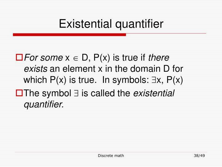 Existential quantifier