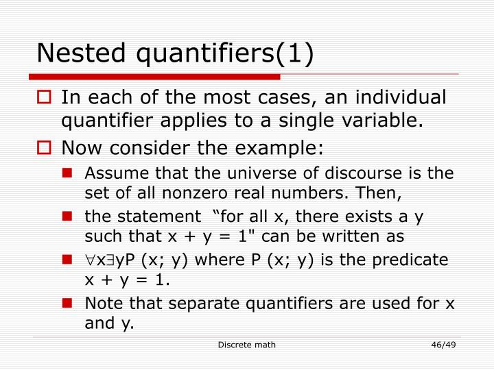 Nested quantifiers(1)