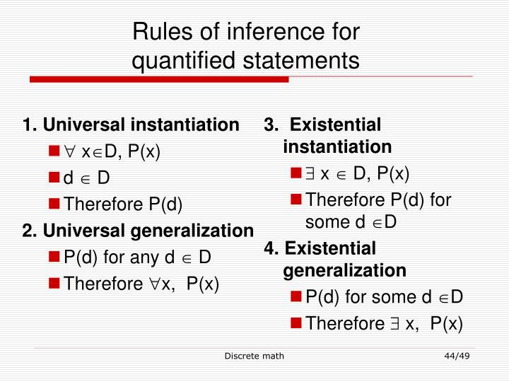 1. Universal instantiation