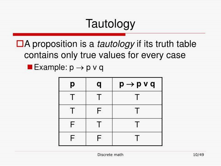 Tautology
