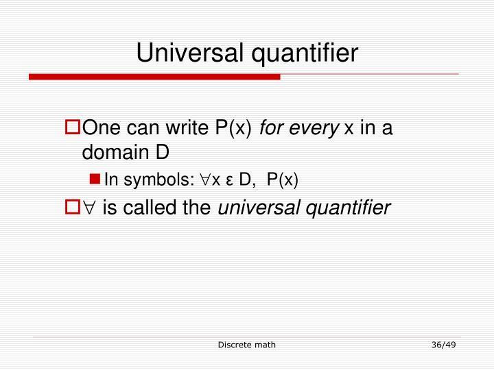 Universal quantifier