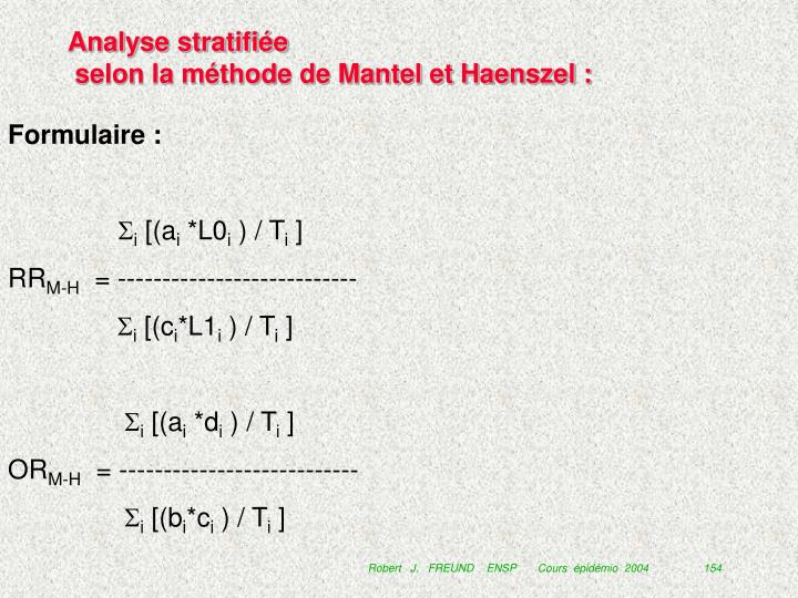 Analyse stratifiée