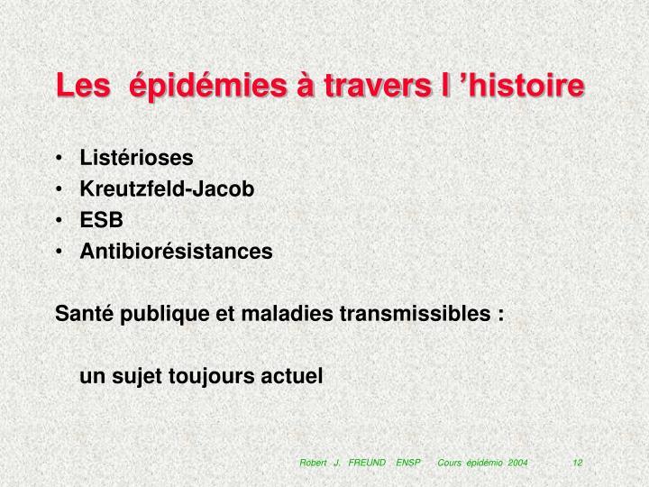 Les  épidémies à travers l'histoire
