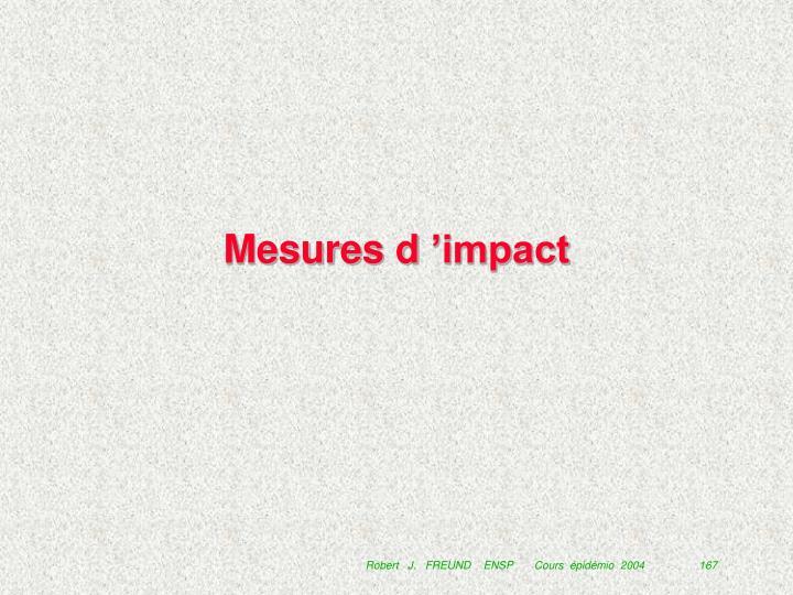 Mesures d'impact