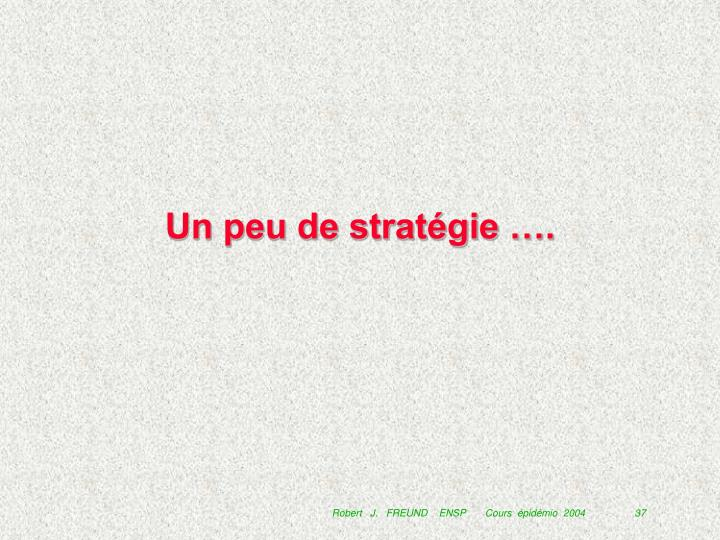 Un peu de stratégie ….