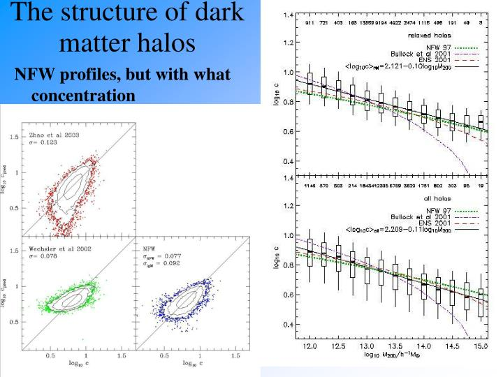 The structure of dark matter halos