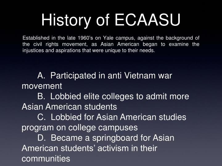 History of ECAASU