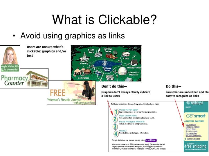 What is Clickable?