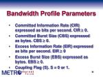 bandwidth profile parameters