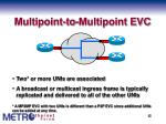 multipoint to multipoint evc
