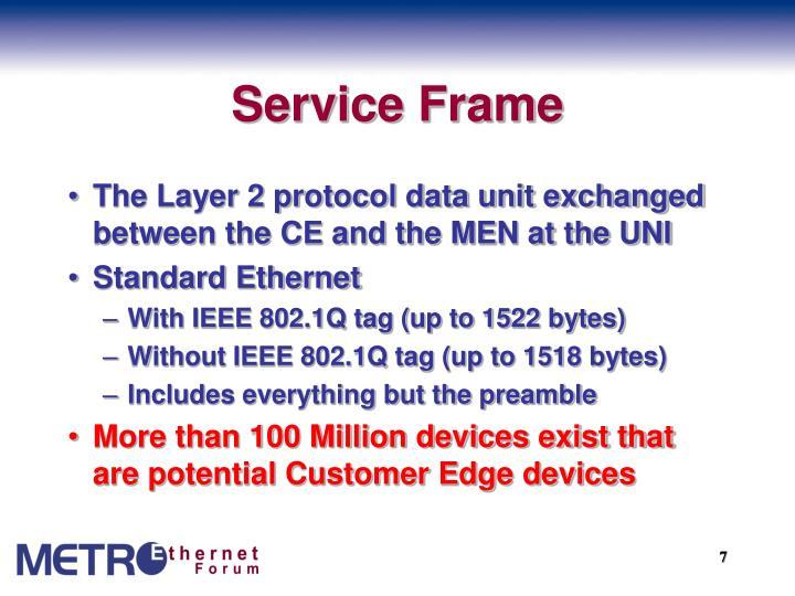 Service Frame