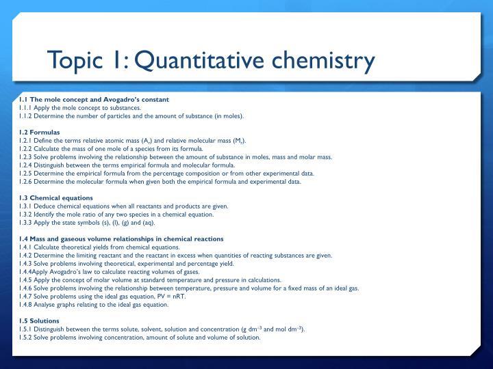 Topic 1: Quantitative