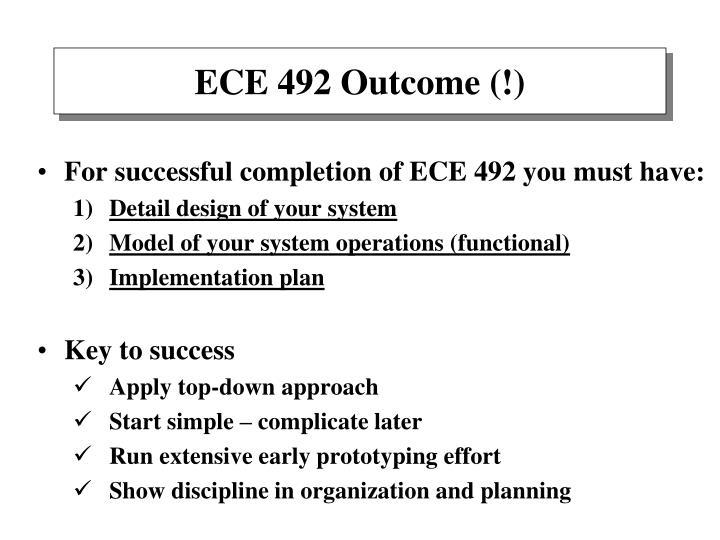 ECE 492 Outcome (!)