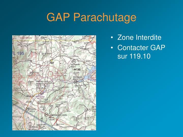 GAP Parachutage